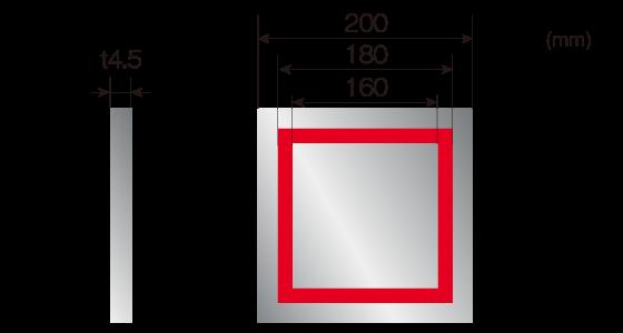 DLAMP処理形状[塗装鉄板]