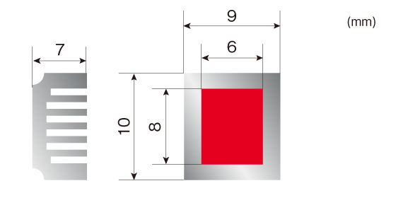 DLAMP処理形状[アルマイト処理アルミ]