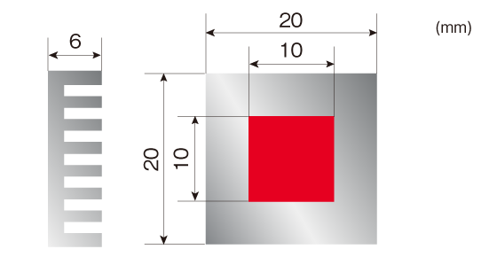 DLAMP処理形状[ヒートシンク]